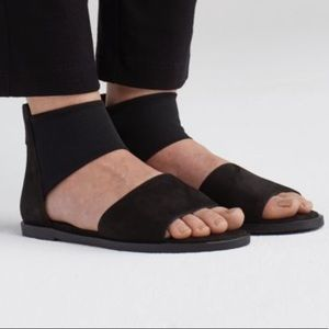 Eileen Fisher Tumbled Nubuck Sign Sandals 10